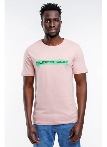 Slazenger Slazenger BATTLE Erkek T-Shirt Pudra Pudra